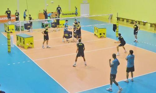 Seleção Brasileira de Vôlei treina no CDV