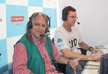 Maraca, em transmissão ao vivo,  ao lado de Pedro Muller (Divulgação)