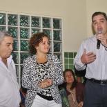 Em primeiro plano, o vice-prefeito Zequinha Martins, a prefeita Franciane Motta e o secretário municipal de Saúde Carlos Eduardo Coelho (Agnelo Quintela)