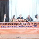 A mesa de abertura da conferência (Foto: Divulgação)