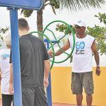 Atividades físicas e ginástica ao ar livre (Foto: Agnelo Quintela)