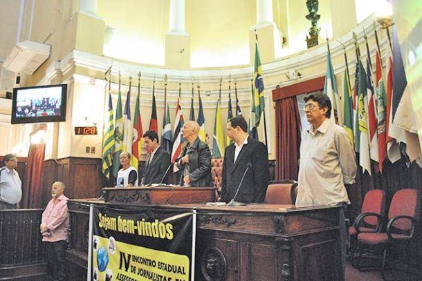 O Encontro de Jornalistas foi na Câmara Municipal de Niterói (Foto: Agnelo Quintela)