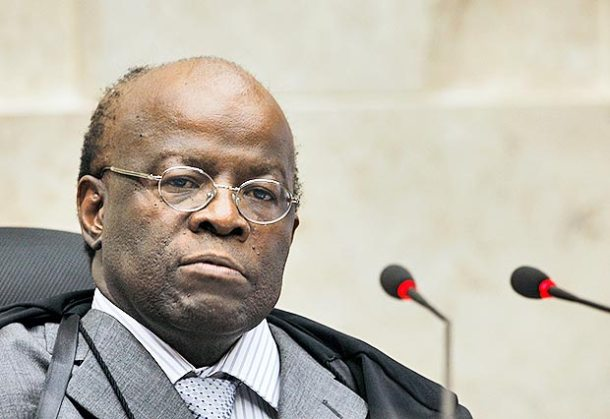 O presidente do STF, Joaquim Barbosa, decretou as prisões (Foto: Nelson Jr/SCO/STF)