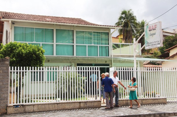 A moderna sede da SAF Lagos fica na Rua Pereira em Bacaxá