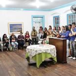 O sarau em homenagem ao poeta Alberto de Oliveira reuniu intelectuais e artistas, gestores culturais, professores e alunos. (Fotos: Edimilson Soares)