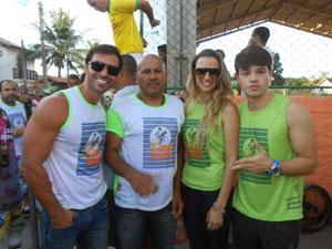 Cleiton, Andinho, Lorena e Júnior