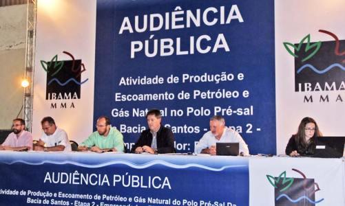 Realizada Audiência Pública em Maricá sobre a Etapa 2 no Polo Pré-sal da Bacia de Santos
