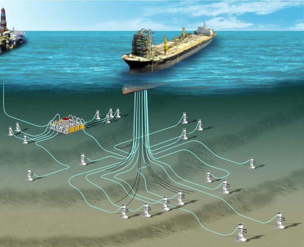 Ilustração de uma plataforma