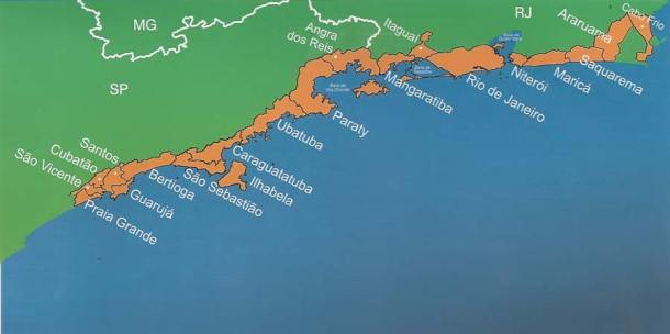 A área de influência da Etapa 2 em São Paulo e no Rio de Janeiro abrange vários municípios.
