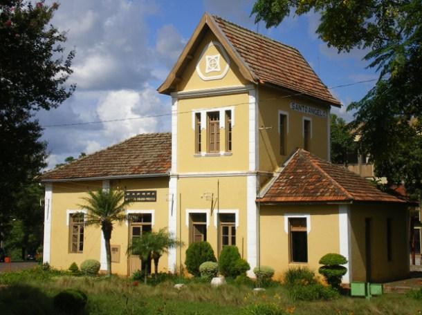 Estação Férrea de Santo Angelo, no Rio Grande do Sul, hoje Museu da Coluna Prestes