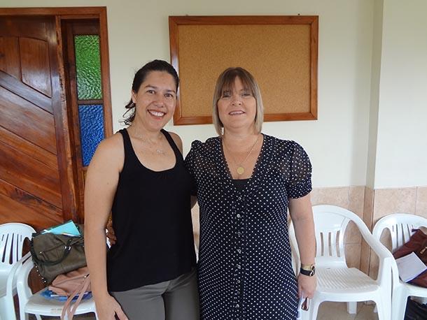 Luciani, coordenadora do Programa Saúde da Família, e Ana Cristina, secretária de Saúde (Foto: Edimilson Soares)