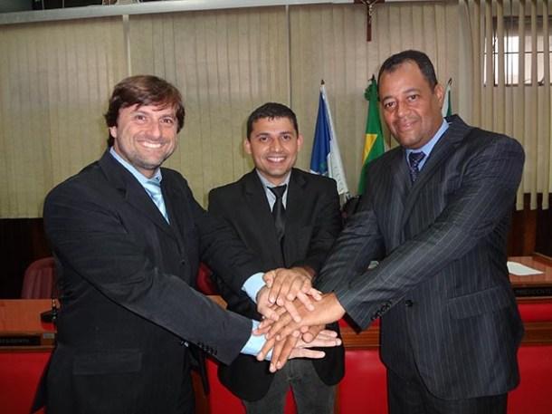 União firmada entre os vereadores: Bruno, Roger e Abraão (Edimilson Soares)