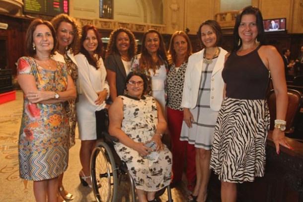 Martha Rocha, Zeidan, Ana Paula Rechuan, Enfermeira Rejane, Tia Ju, Lucinha, Márcia Jeovani, Danielle Guerreiro e Tania Rodrigues (Foto: Rafael Wallace)