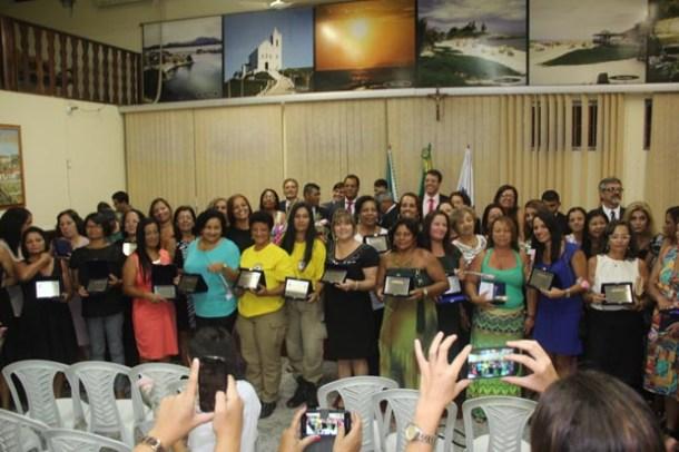"""As mulheres agraciadas em 2015 com o título """"Mulheres de Ouro"""" da Câmara Municipal (Foto: Edimilson Soares)"""