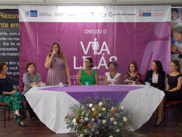 Superintendente da Mulher, da Secretaria de Assistência Social e Direitos Humanos, Marisa Chaves, destacou as conquistas nos últimos anos (Foto: Ronaldo Novelino