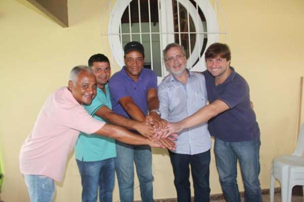O empresário Mel, Roger Gomes, Abraão da Melgil, Fernando Peregrino e Bruno Pinheiro