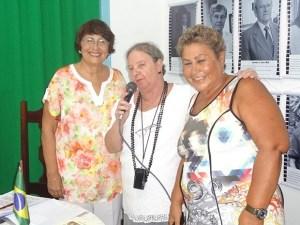 Beatriz Dutra, Dulce Tupy e Sandra Sant'Anna, uma forte união pela cultura (Foto: Edimilson Soares)
