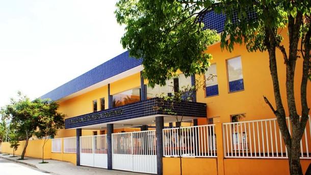 A Escola Municipal Elcira de Oliveira Coutinho, totalmente reformada, em Água Branca. Foto: Divulgação SECOM/PMS