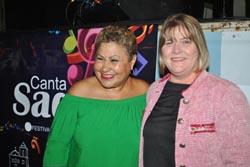 Sandra, subsecretária da Cultura e Cristina, secretária da Saúde