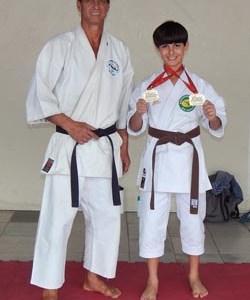 Medalhas  de ouro no karate