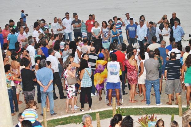 A inauguração das obras de revitalização na Praia de Itaúna (Fotos: Agnelo Quintela)