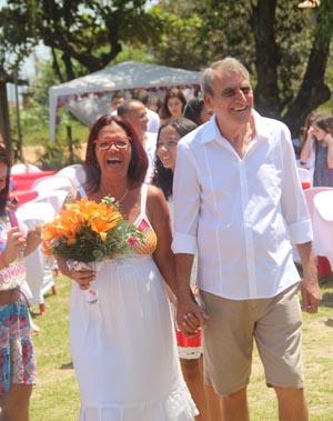 Marta e Ivan Barroso (Foto: Edimilson Soares)