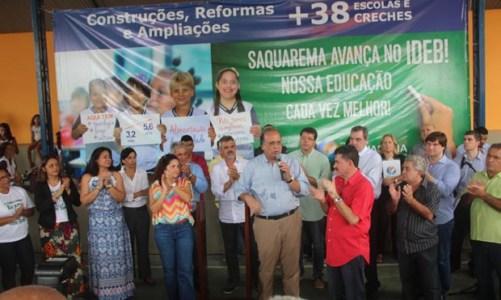 Governador Pezão inaugura reforma de escola em Sampaio Corrêa
