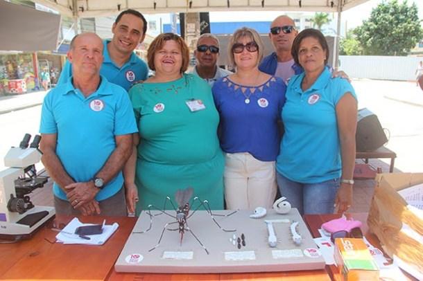 A equipe da secretaria de Saúde empenhada na mobilização contra as doenças transmitidas pelos mosquitos aedes aegypti (Edimilson Soares)
