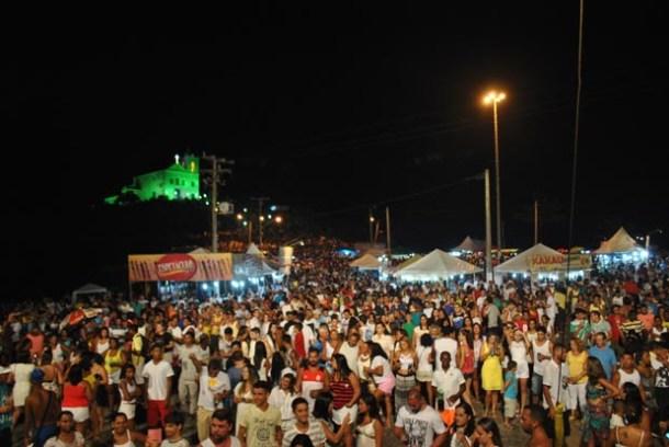 Na virada do ano, as apresentações musicais e a queima de fogos encantaram o público que lotou a Praça do Coração (Agnelo Quintela)