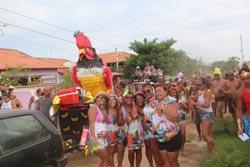 O Bloco do Galo, mais animado que nunca, no desfile no Coqueiral (Edimilson Soares)