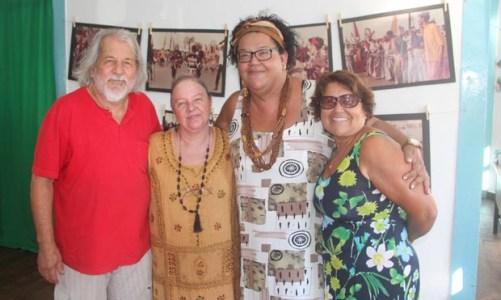 Exposição do carnaval de Angola na Casa da Cultura em Saquarema