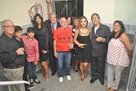 Parentes e amigos no coquetel de inauguração do novo escritório Cesar e Maciel Advogados Associados