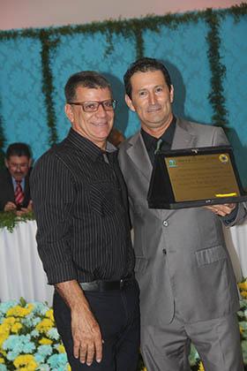 Carlos Garcia com o vereador Gilvan Martinelli