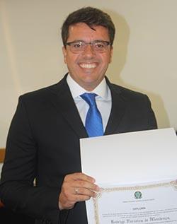 Rodrigo Borges, atual presidente da Câmara Municipal
