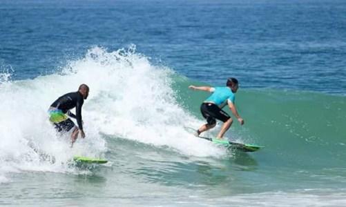 E o surf rolou em Jaconé