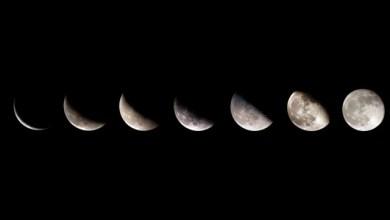 Фази на луната - Лунен календар за 2014 година