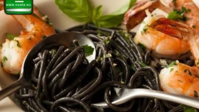 Рецепта за Черни спагети със скариди