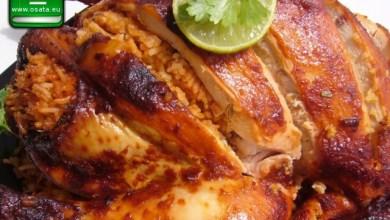Рецепта за пълнено пиле с ориз и дреболии