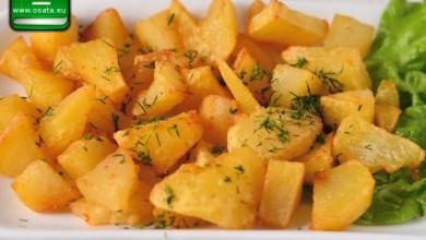 Рецепта как да приготвим печени картофи с оцет и чесън