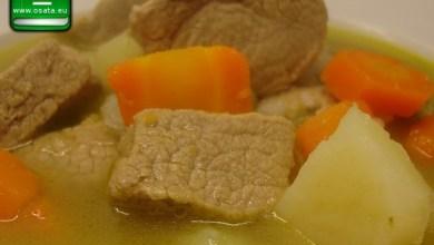 Рецепта за телешко варено с костен бульон