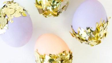 Боядисване на яйца за великден - златно фолио