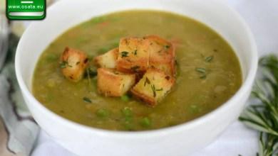 Рецепта за супа от грах с крутони
