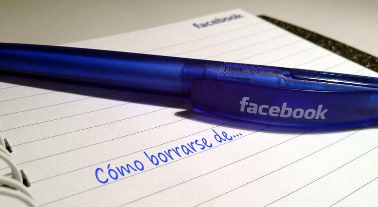 Cómo borrarse de Facebook