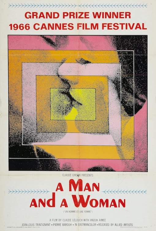 A MAN AND A WOMAN - American Poster