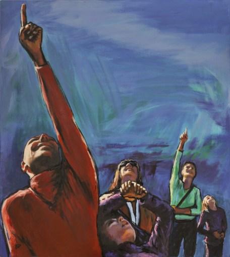 BOREALMENTE, Acrylic on canvas, cm.90x80, 2012