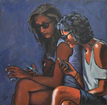 Confidences, Acrilico su tela, cm.60x60, 2013