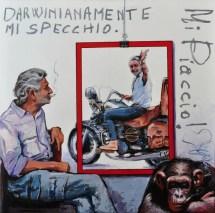Darwinianamente Wandrè, Acrylic on canvas, cm.100x100, 2014 ■