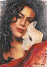 DILEMMA, Acrylic on handmade paper, cm.36×26, 2010 ■