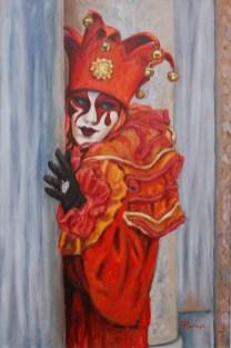FRA LE COLONNE, Oil on canvas, cm.60x40, 2007