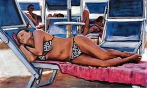 GEOMETRIA BLU, Acrylic on canvas, cm.60x100, 2012